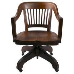 Swivel Tilt Yale Library Bank of England Walnut Desk Office Chair