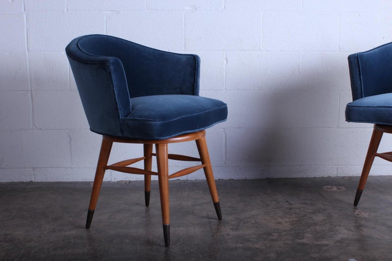 Mid-20th Century Swiveling Stool by Edward Wormley for Dunbar For Sale
