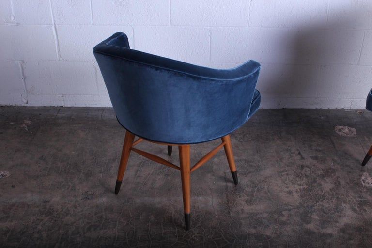 Swiveling Stool by Edward Wormley for Dunbar For Sale 2