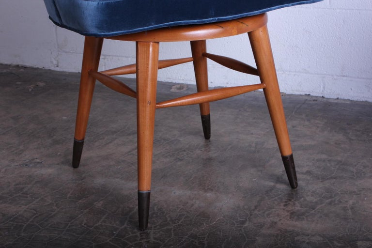 Swiveling Stool by Edward Wormley for Dunbar For Sale 3