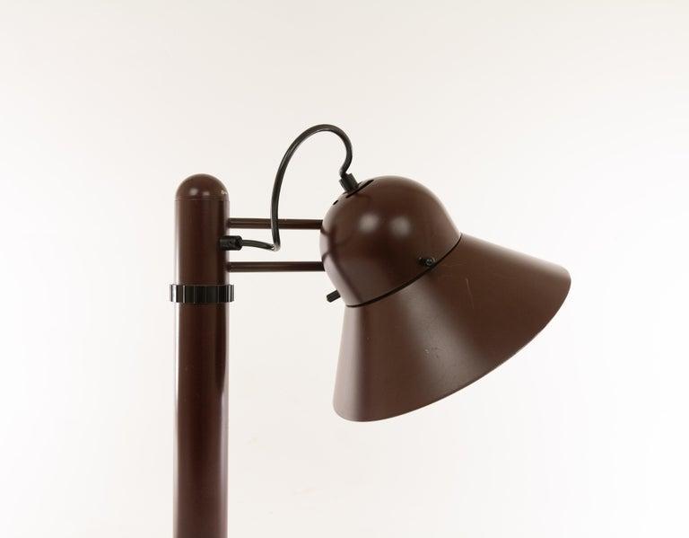 Mid-Century Modern Swiveling Table Lamp by Gae Aulenti for Stilnovo, 1970s For Sale