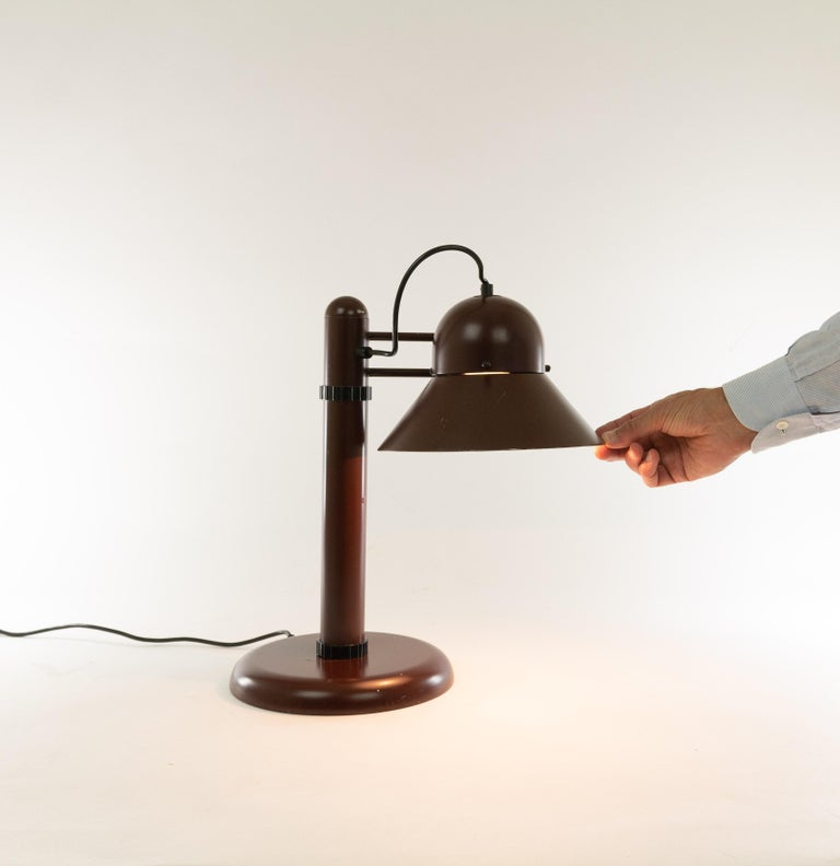 Metal Swiveling Table Lamp by Gae Aulenti for Stilnovo, 1970s For Sale