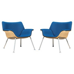 Swoop Plywood Lounge Chairs in Ashwood by Brian Kane for Herman Miller, Pair