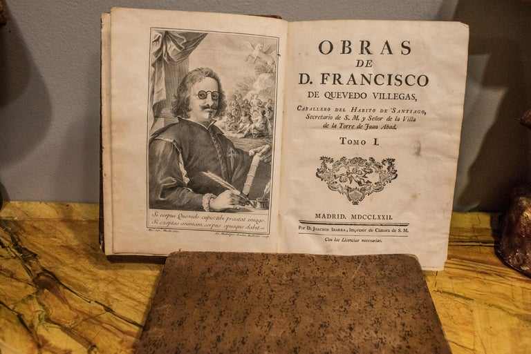 Sxviii 5 Works of  D Francisco  Quevedo Villegas by D Joaquin Ibarra For Sale 1