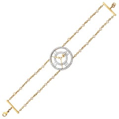 Sybarite Clockwork Bracelet 18 Karat Yellow Gold 2.74 Carat White Diamonds