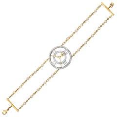 Sybarite Clockwork Bracelet 18 Karat Yellow Gold 2.74 Carat White Diamonds