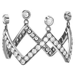 Sybarite Jewellery 0.72 Carat Diamonds 18 Karat White Gold Cluster Ring