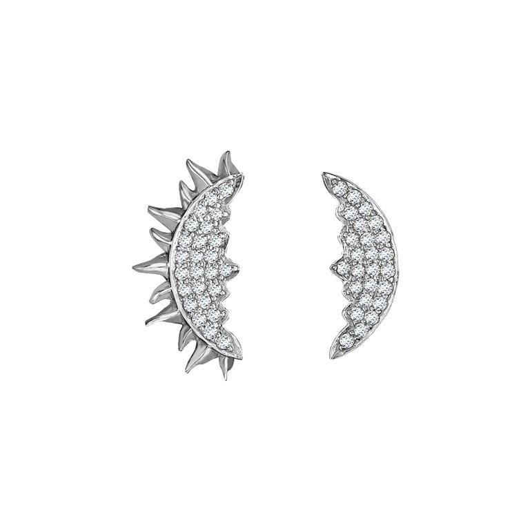 Sybarite Jewellery 18 Karat White Gold 0.23 Carat White Diamonds Stud Earrings