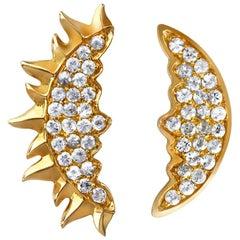 Sybarite Jewellery 18 Karat Yellow Gold 0.23 Carat White Diamonds Stud Earrings