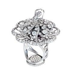 Sybarite Jewellery Ballerina 4.03 Carat Diamond Cocktail Ring 18 Karat Gold
