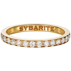 Sybarite Jewellery Diamond Band Ring 18 Karat Yellow Gold