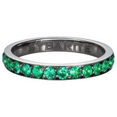 Sybarite Jewellery Emerald Band Ring 18 Karat Gold