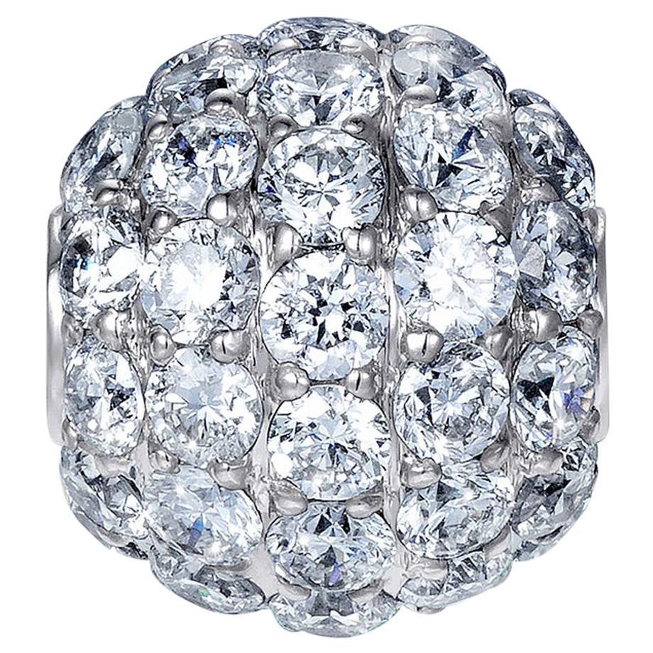 Sybarite Jewellery Diamond Charm Ball 18 Karat Gold 0.98 Carat White Diamonds