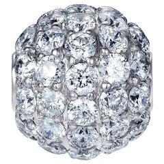 Sybarite Jewellery Diamond Charm Ball 18 Karat Gold 0.98 Carat White Diamonds