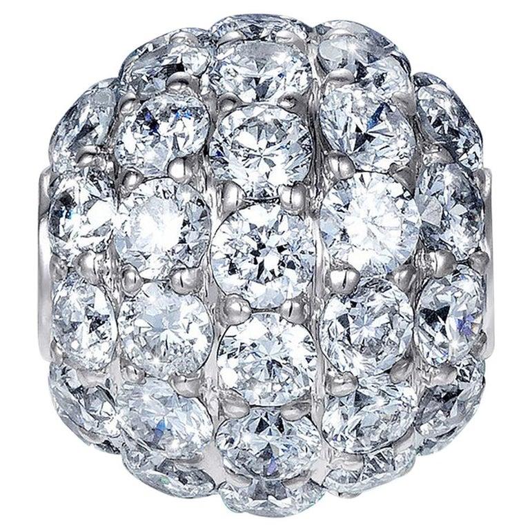 Sybarite Jewellery Diamond Charm Ball 18 Karat Gold 0.98 Carat White Diamonds For Sale