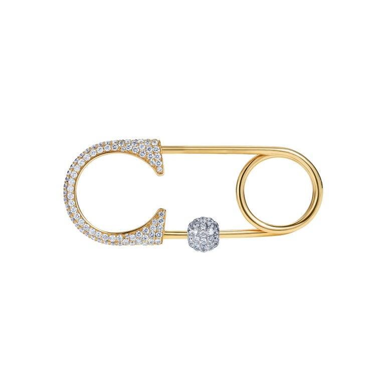 Contemporary Sybarite Jewellery Diamond Charm Ball 18 Karat Gold 0.98 Carat White Diamonds For Sale