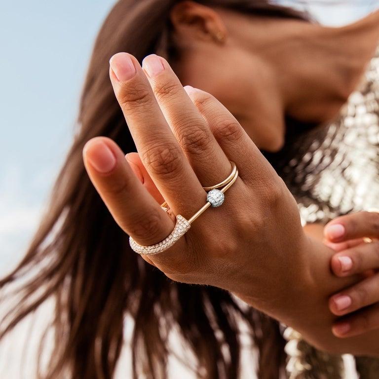 Sybarite Jewellery Diamond Charm Ball 18 Karat Gold 0.98 Carat White Diamonds In New Condition For Sale In London, GB