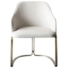 Sybil Armchair with White Leather