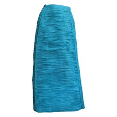 Sybil Connolly 1960s Sculptural Linen Maxi Skirt