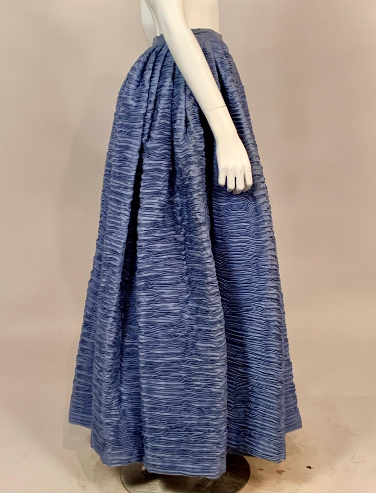 Known as the Irish Couturier, Sybil Connolly is most famous for her extremely rare pleated linen clothing. She used fabrics that were produced in Ireland almost exclusively, and the linen in this skirt is an example of the quality workmanship.  Each