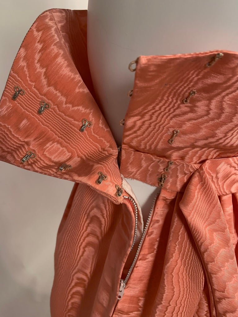 Sybil Connolly Pink Moire Silk Evening Skirt with a Cummerbund Style High Waist For Sale 2