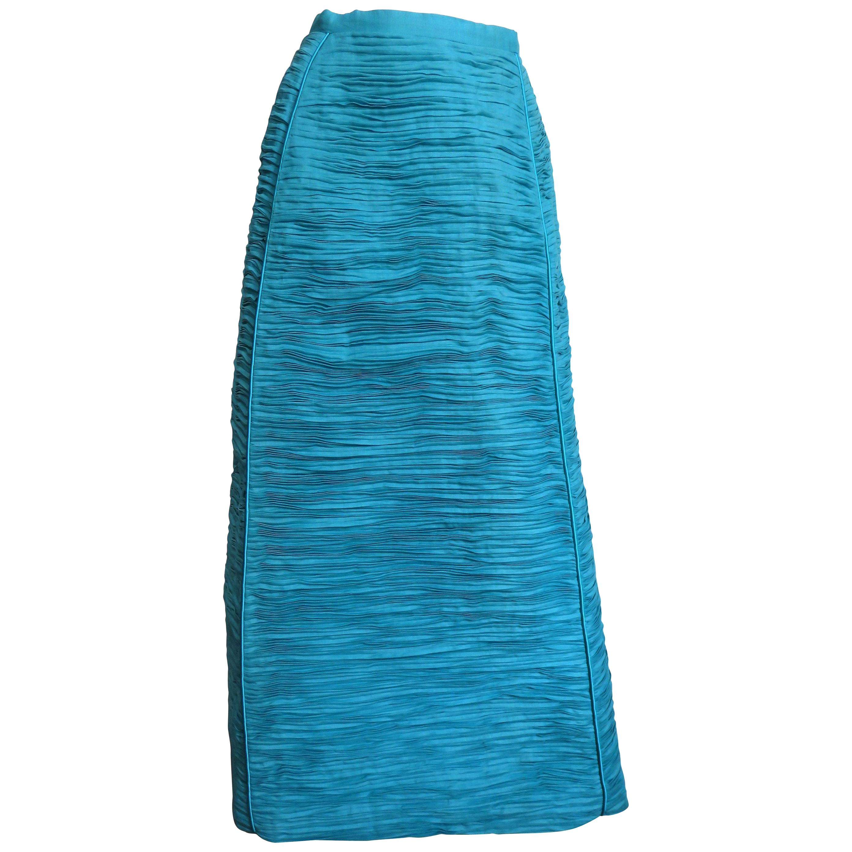 Sybil Connolly Sculptural Linen Maxi Skirt 1960s