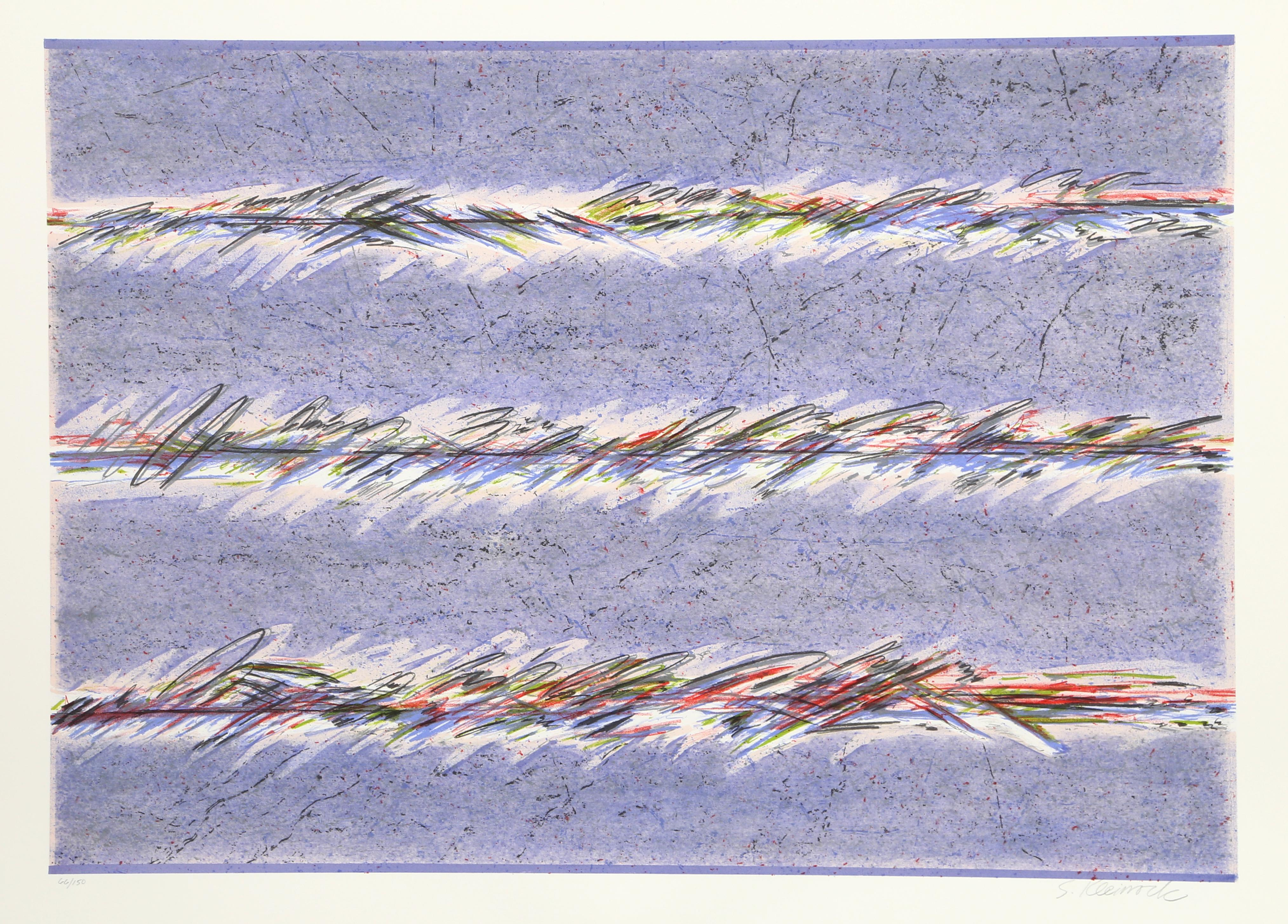 Dream Fields, Purple Abstract Lithograph by Sybil Kleinrock