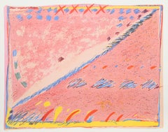 Pink Abstract Lithograph by Sybil Kleinrock
