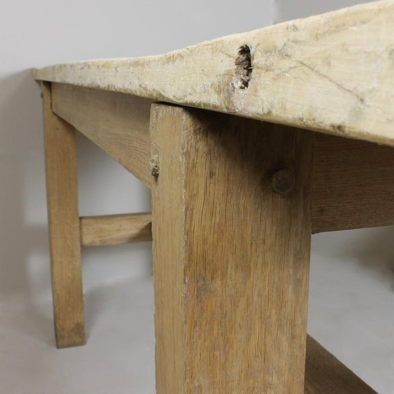 British Sycamore and Oak Kitchen Work or Preparation Table For Sale