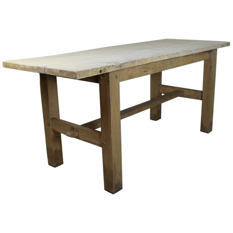 Sycamore and Oak Kitchen Work or Preparation Table For Sale