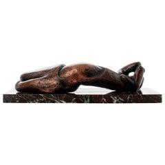 Sydney Alex Kumalo Modern Reclining Nude Bronze Sculpture