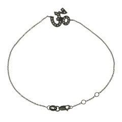 Sydney Evan 14 Karat Black Gold Pave Diamonds Bracelet