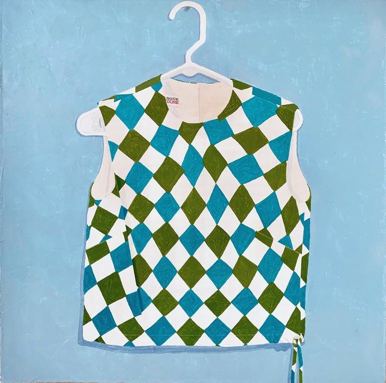 "Sydney Licht ""JL's Shirt"" Contemporary Still Life Oil Painting - Blue Still-Life Painting by Sydney Licht"