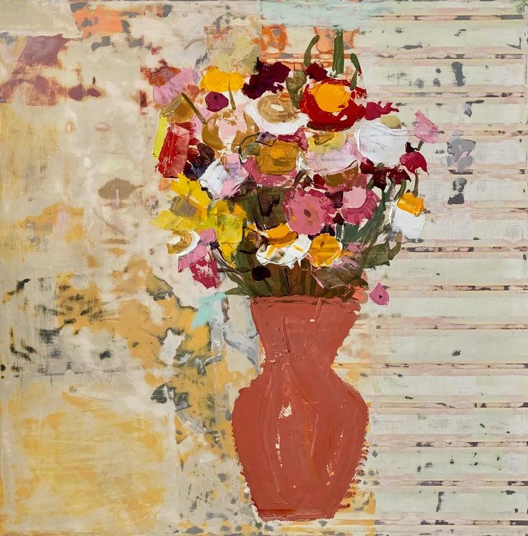 Sydney Licht Still-Life Painting - Still Life with Flower in Vase