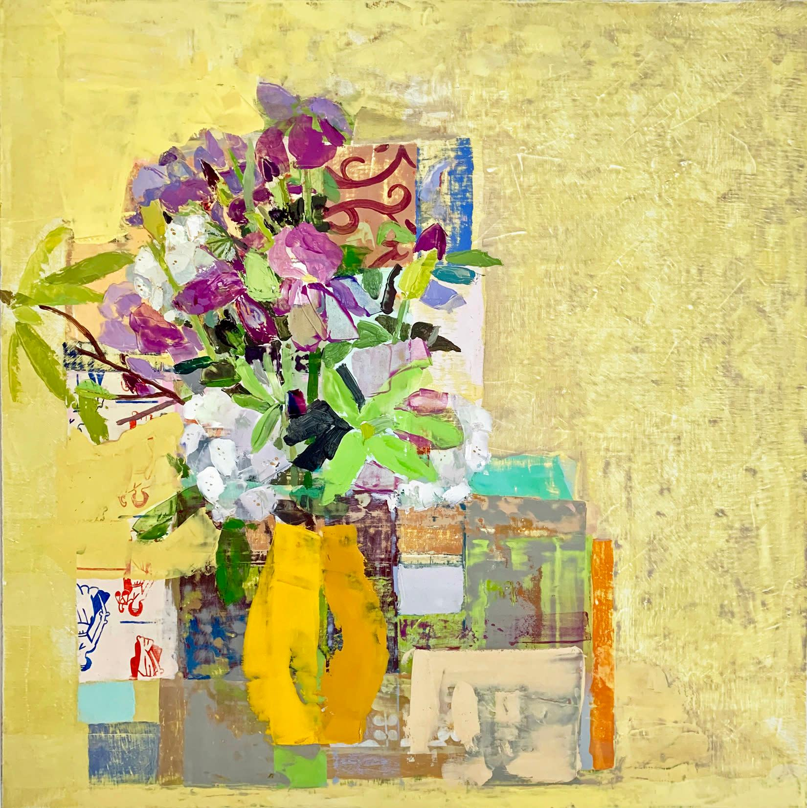 "Sydney Licht ""Still Life with Irises"" -- Oil Painting on Linen"