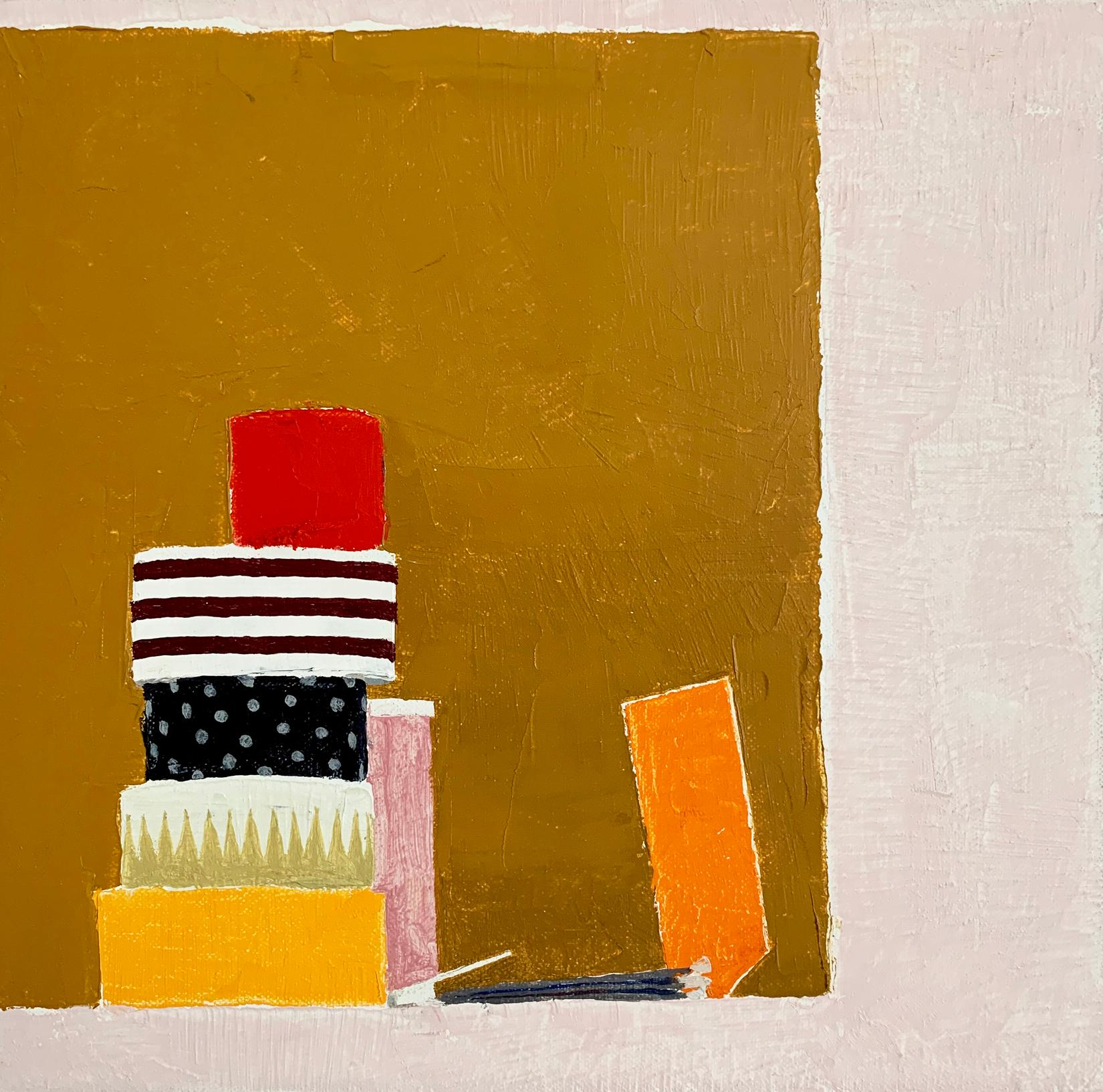 """Sydney Licht """"Still Life with Matches"""" -- Small Oil Painting on Linen"""