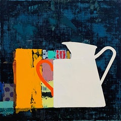 "Sydney Licht ""Still Life with Mug & Pitcher"" -- Oil Painting on Linen"