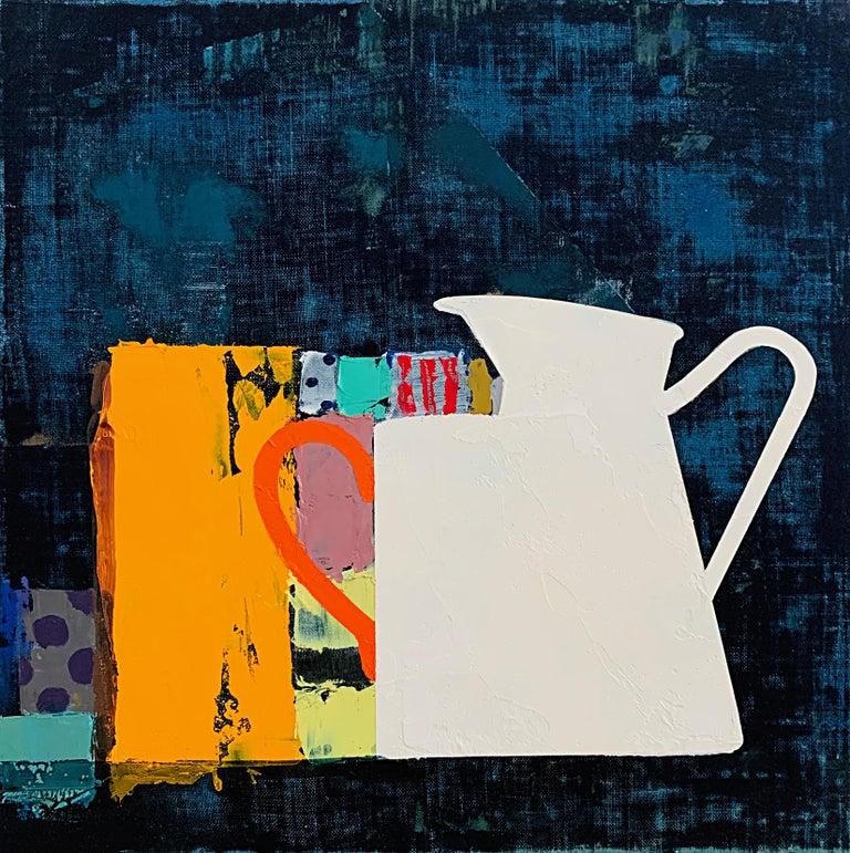 "Sydney Licht ""Still Life with Mug & Pitcher"" -- Oil Painting on Linen - Black Still-Life Painting by Sydney Licht"