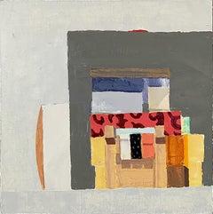 "Sydney Licht ""Still Life with Tape Dispenser"" -- Small Oil Painting on Linen"