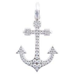 Sylva & Cie Diamond Anchor Pendant