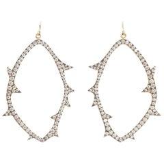 Sylva & Cie Open Faced Diamond Earrings