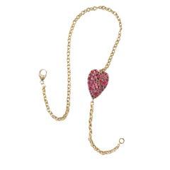 Sylva & Cie Ruby Heart Double-Wrap Bracelet