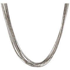 Sylva & Cie White Gold Chain Necklace