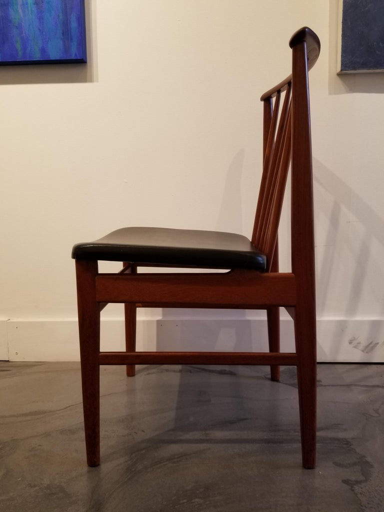 Scandinavian Modern Teak Dining Chairs by Sylve Stenquist for DUX  For Sale