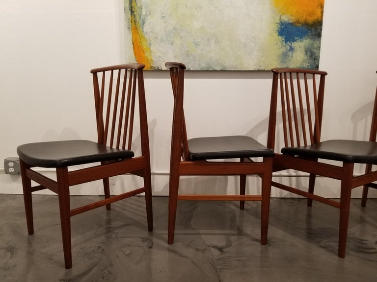 Mid-20th Century Teak Dining Chairs by Sylve Stenquist for DUX  For Sale