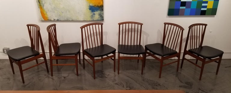 Teak Dining Chairs by Sylve Stenquist for DUX  For Sale 1