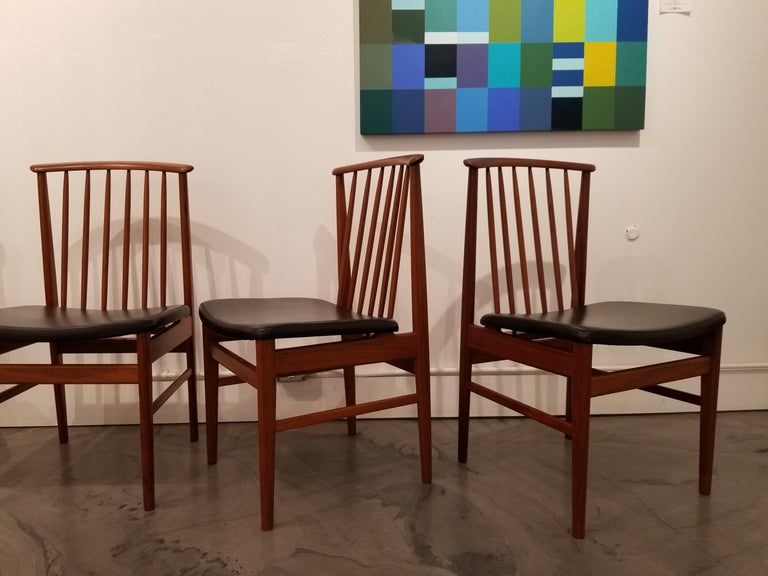 Teak Dining Chairs by Sylve Stenquist for DUX  For Sale 2