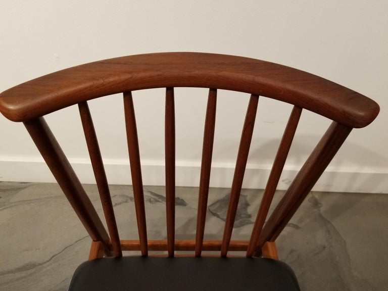 Teak Dining Chairs by Sylve Stenquist for DUX  For Sale 3