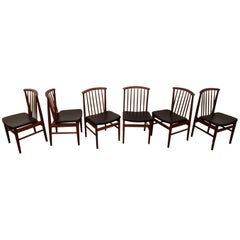 Sylve Stenquist for DUX Teak Dining Chairs, Set of 6