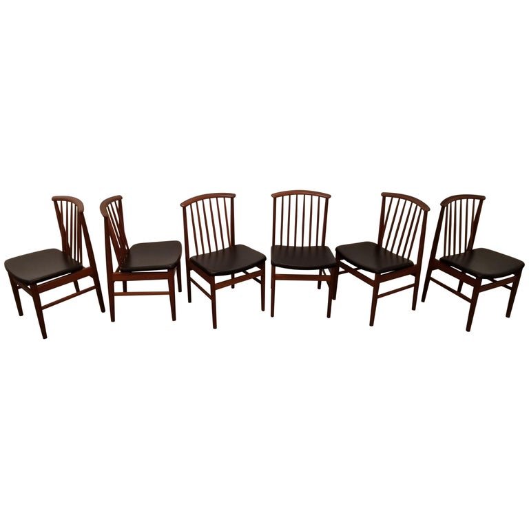 Teak Dining Chairs by Sylve Stenquist for DUX  For Sale